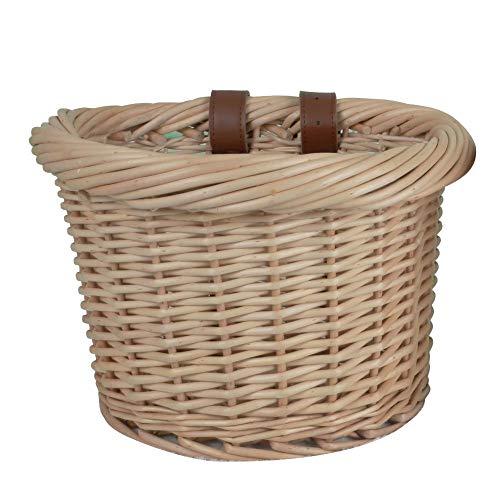 Cesta de mimbre gruesa hecha a mano para bicicleta, cesta tejida al aire última intervensión, cesta para bicicleta,...