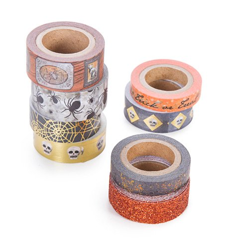 Halloween Orange Washi Tape Assortment - 8 Spools