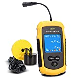 Lucky Portable Fishing Sonar, Handheld Wired Fish Finder Fishfinder Alarm Sensor Transducer with LCD Display