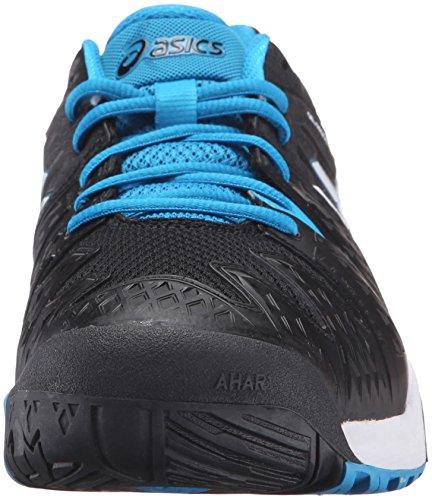Asics Heren Gel-resolutie 6 Tennisschoen Zwart / Blauw Juweel / Wit
