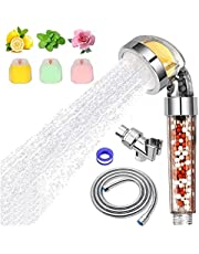 Shower Head Filter Vitamin C High Pressure Handheld Sprayer Showheads with Hose Chlorine Fluoride Removal Hard Water Softener Filters Showhead for Thanksgiving Day