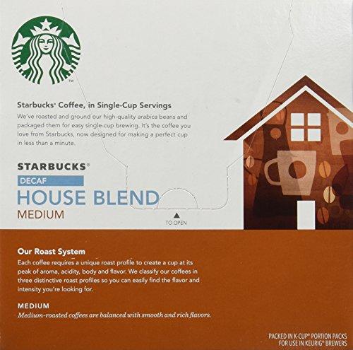 Starbucks Decaf House Blend Medium Roast Keurig K Cups 16