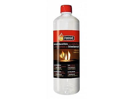 1 botella de BIOETANOL 1L Combustible para estufas y chimeneas interior- exterior