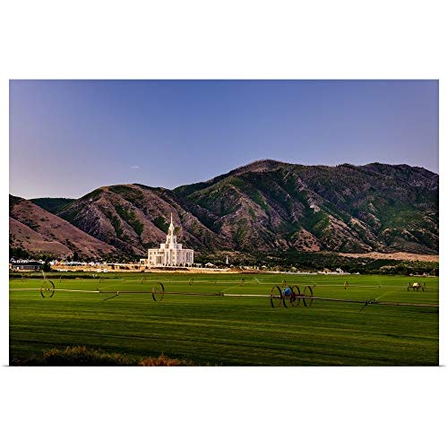 Great Big Canvas Poster Print Entitled Payson Utah Temple, Mountains and Farmland, Payson, Utah by Scott Jarvie 36