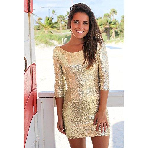 Vestuario La Mujer Golden Para Vestidos Mujer Fiesta El JIALELE Fiesta Vestido Mujer Vestido Para De De nqaxPH6OZ