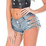 Cresay Women's Sexy Cut Off Denim Jeans Shorts Mini Hot Pants Clubwear-L