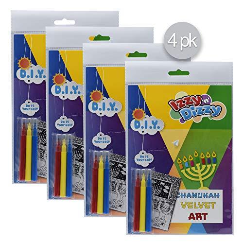 Izzy 'n' Dizzy Hanukkah Velvet Art Kit - 4 Pack - Includes 8