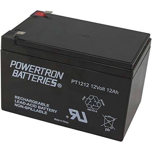 Powertron 1 12 Volt 12AH Rechargeable Electric Scooter E-Bike Battery Boreem by Powertron