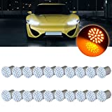 cciyu 20 pcs Yellow LED Exterior Light Bulbs for turn Signal,Side marker,Corner,Stop lights