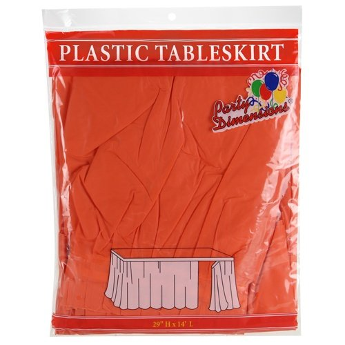 Party Dimensions 52098 Single Count Table Skirt, 29 x 14
