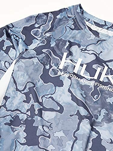 HUK Unisex-Child Pursuit Camo Vented Kids Long Sleeve Performance Fishing Shirt with 30 UPF Sun Protection