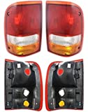 Discount Starter and Alternator FO2801110 FO2800110 Ford Ranger Replacement Taillight Pair Plastic Lens Without Bulbs