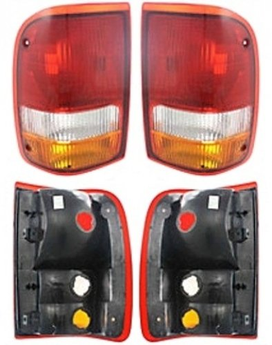 Discount Starter and Alternator FO2801110 FO2800110 Replacement Taillight Pair Fits Ford Ranger Plastic Lens Without Bulbs
