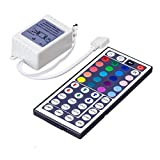 Welsun 44 Keys IR Remote Controller For SMD5050 3528 RGB LED Strip LED Tape+RGB Control Box Dimmer RGB Controller (1PCS)