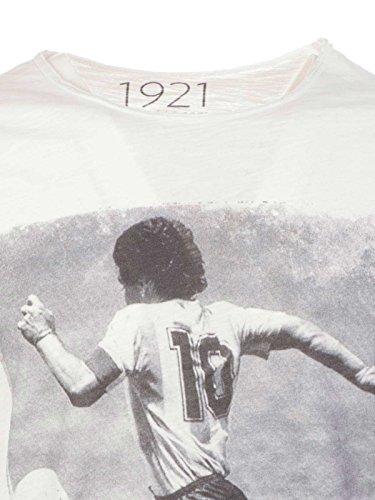 Coton 1921 shirt T 1921soccer10 Blanc Homme tqTqwa4Yx