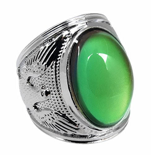 Acchen Mood Rings King of Eagle Color Change Emotional Feeling Endless Rainbow with Box(Diameter 22mm)