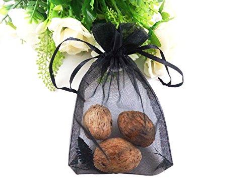 Black Organza Bags - 5