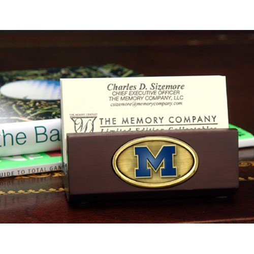 NCAA The University of Michigan Business Card Holder, One Size, Multicolor