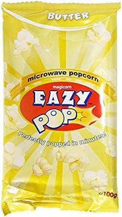 Eazypop - Palomitas con mantequilla - 100 g - Pack de 3 unidades ...