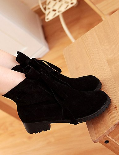 us10 Cn34 Mujer Zapatos Beige Redonda Brown Ante Botas Punta us5 negro Vestido Cerrada Y Uk8 5 5 Casual Xzz Tacón Eu42 De Bajo Trabajo Oficina Uk3 Cn43 Marrón Eu35 qUdwxCCfE