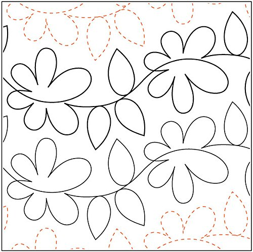 Quilting Creations Daisy Dotz #2, 6 Inch Rows,UTA-1004 Urban Elementz Tear Away, 4 Pack by Quilting Creations