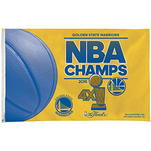 Golden State Warriors 2015 Champions Rico 3x5 Flag Championship Outdoor House Banner Basketball ()