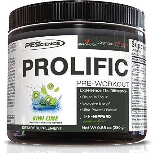 PEScience Prolific Preworkout, Kiwi Lime, 40 Scoop