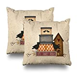 Pakaku Set Of 2 Throw Pillows Covers For Couch/Bed 18 x 18 inch,Primitive Faith Family Friends Home Sofa Cushion Cover Pillowcase Gift Decorative Hidden Zipper Cotton And Polyester Summer Beach