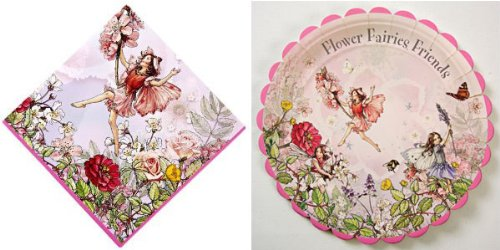 Flower Fairies Large Paper Plates and Napkins By Meri Meri