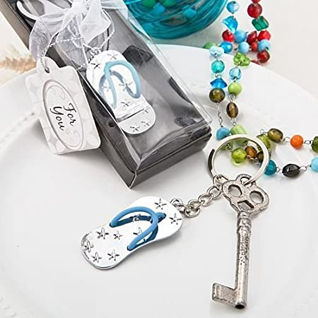 858c6786d 6 X Beach Themed Flip Flop Keyring Keychain Wedding & Party Bag Filler  Favours (2 Pack): Fashioncraft: Amazon.co.uk: Kitchen & Home