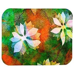 Flower Print 22 X 18 Cm Mouse Pad For Pc & Laptop, Multi Color