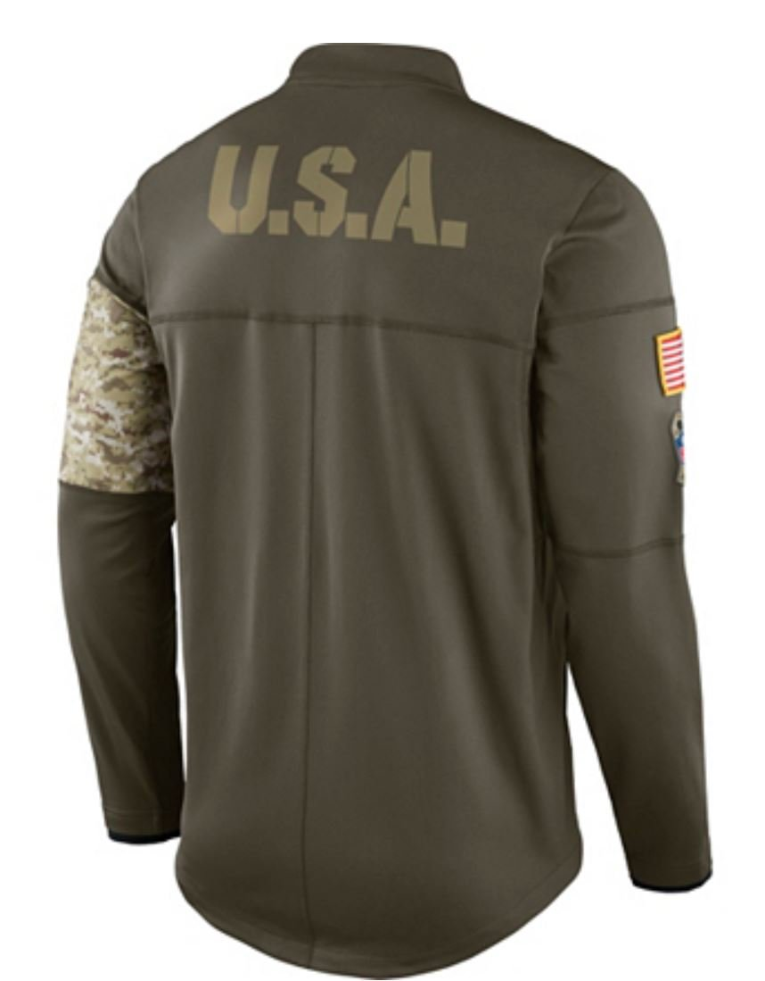 ce4ceefe Amazon.com : Dallas Cowboys Nike Salute to Service Sideline Hybrid Half-Zip  Pullover Jacket : Sports & Outdoors