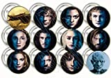 "Game of Thrones CHARACTERS FACES Party Favors Supplies Decorations Collectible Metal Pinback Buttons, Large 2.25"" -12 pcs"