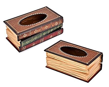 Taschentuchspender Box Kosmetikt/ücher Holz 25x14x10 cm Red Taschentuchbox Kosmetikt/ücher T/ücherbox Kosmetikbox Kosmetikt/ücher Box f/ür Zuhause B/üro Auto