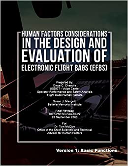 Book Human Factors Considerations in the Design and Evaluation of Electronic Flight Bags(EFBs)- Version 1: Basic Functions