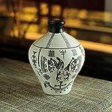 ExclusiveLane Handpainted Warli Matki Shaped Terracotta Vase - Decorative Vases Home Decor Flower Vase Vases Centerpieces Decorative Items Home Decor Terra Cotta Vases Table Vase