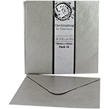 "Fundamentals Cardmaking Envelopes 5.75""X5.75"" 10/Pkg-Silver"