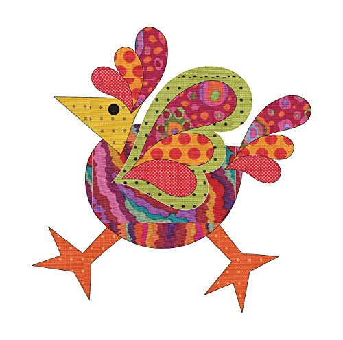 (Quilting Creations Laser Cut Fusible Funky Chicken 4 Small Dotz Applique)