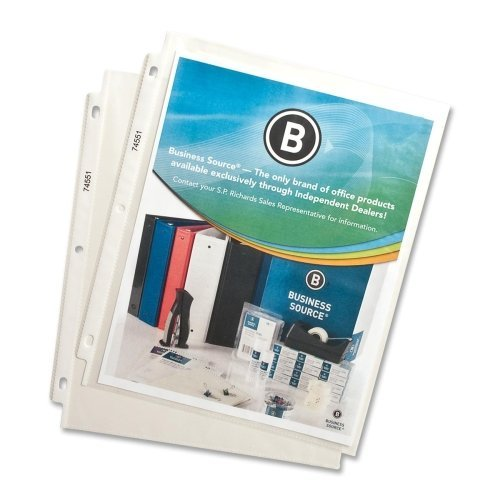 Wholesale CASE of 25 - Bus. Source Top-Loading Sheet Protector-Sheet Protectors,Top Load,2 mil,11''x8-1/2'',100/BX,Clear by BSN