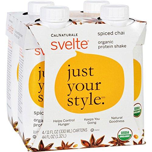 Svelte Protein Shake – Organic – Spiced Chai – 11 fl oz – Case of 24 For Sale