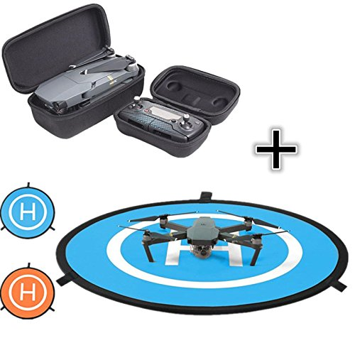 For DJI Mavic Pro Drone Portable Travel Case Box Suits + Mini 750mm Fast-fold landing Pad by Nacome