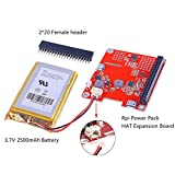 MakerFocus Raspberry Pi Expansion Board DIY Power Pack with Lithium Battery Kit Pro Upgrade Version