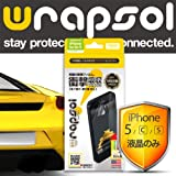 Wrapsol ラプソル iPhone5s/5c/5対応【ULTRA Screen Protector】【前面液晶保護タイプ 】衝撃吸収保護用クリアフィルム・ フロントフィルム・落下破損防止 WPIPCULTR-FT