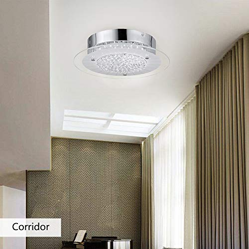 online store caa14 74293 AUDIAN Ceiling Lights Crystal Close to Ceiling Light Fixture Flush Mount  Ceiling Light Ceiling Lamp Dimmable LED Modern Roundness Chandelier  Polished ...