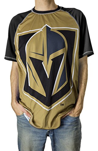 Calhoun NHL Men's Official Team Performance Short-Sleeve Rash Guard (XX-Large, Vegas Golden - Vegas Las Mens Fashion