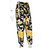 Women Camo Pants Loose Streetwear Yellow Camouflage Pantalon Pencil Pants Hip Hop Joggers Trousers