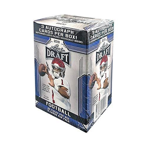 2019 Leaf Draft Football 20ct Premium Hobby Blaster Box -