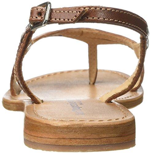 Les Tropéziennes - Sandalias de cuero para mujer Beige