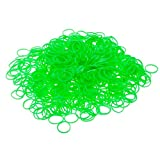 Great Value Pack With 600pcs High Quality Green Strong Loom / Rubber Bands And 25pcs S Shaped Plastic Hooks / Clips In Clear Color By VAGA®
