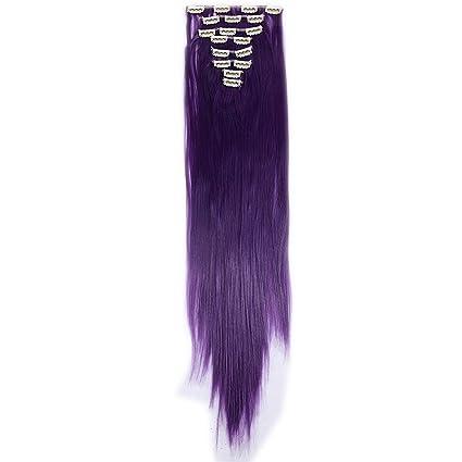 Extension clip capelli veri viola